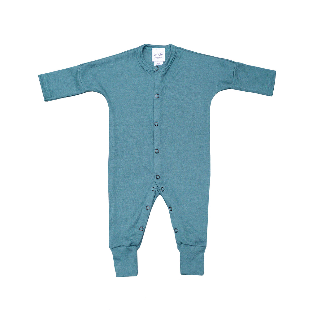 Wool baby sleepsuit SEA PINE