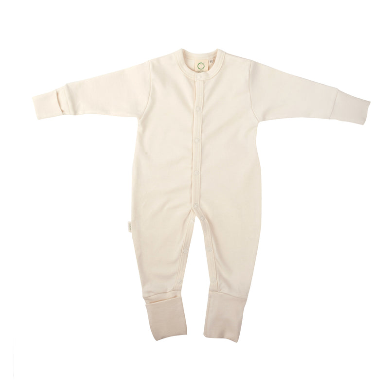 Organic cotton sleepsuit ECRU
