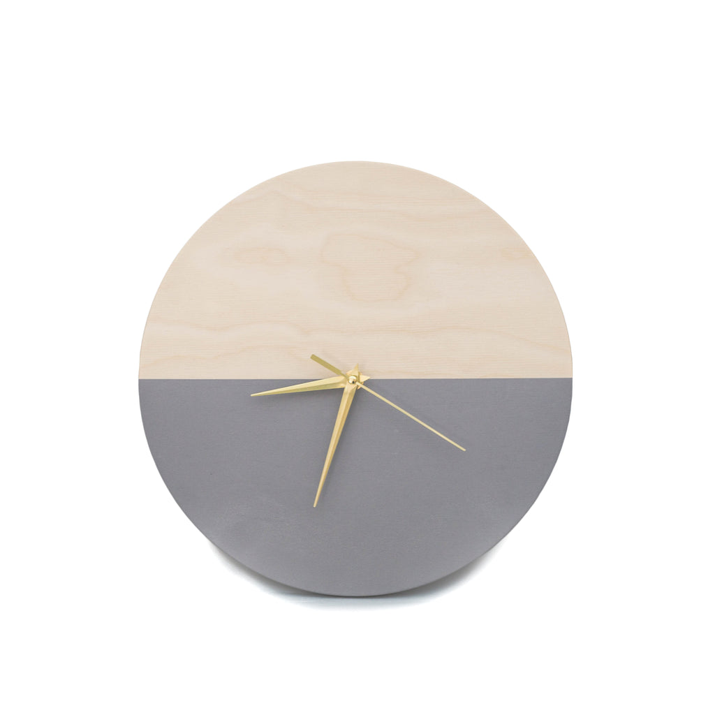 Wooden wall clock GREY