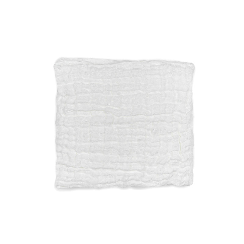 Linen baby swaddle WHITE