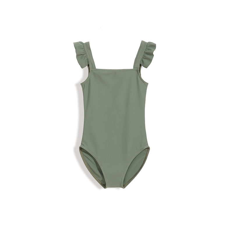 Girls' swimsuit KHAKI