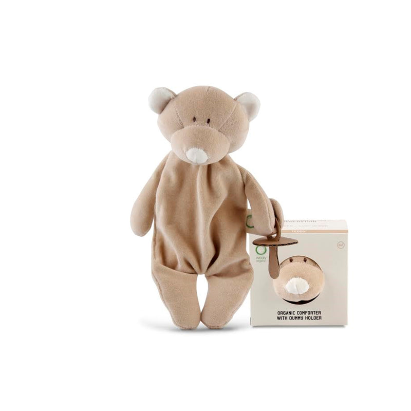 Organic comforter with dummy holder TEDDY
