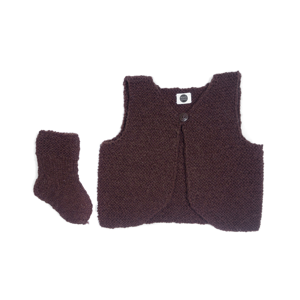Wool socks CHESTNUT