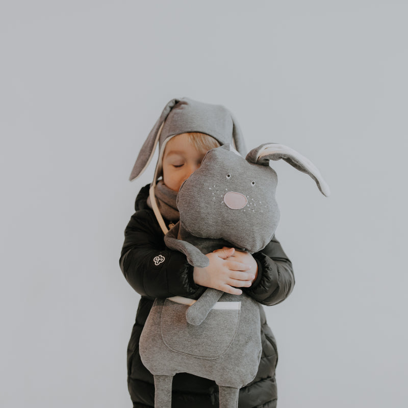 Organic soft toy/backpack BUNNY