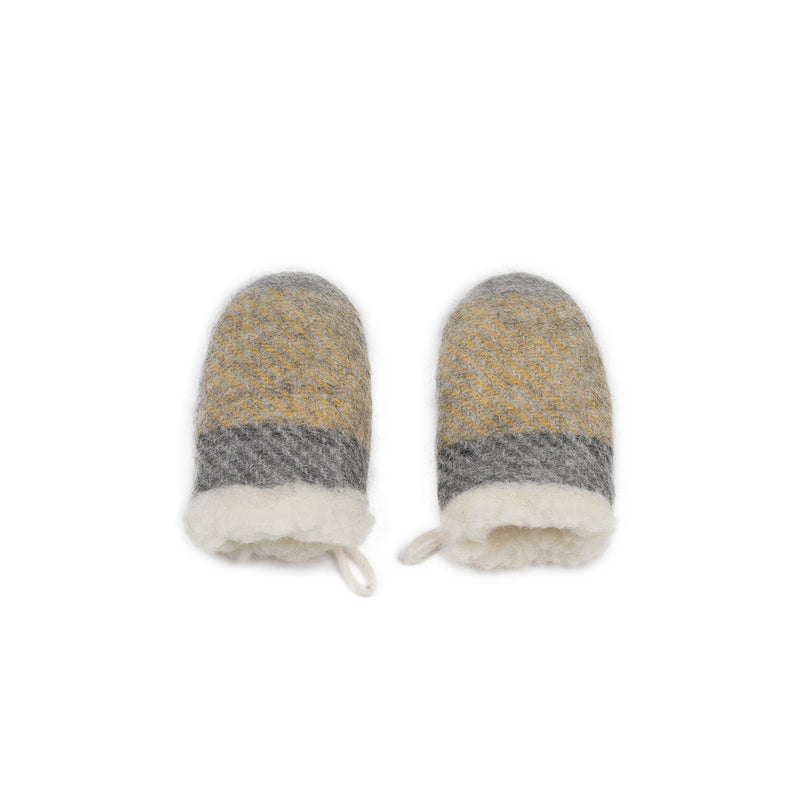 Wool mittens YELLOW
