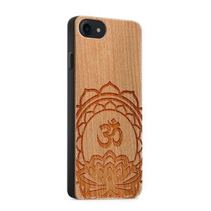 Handmade Wood - Ohm Lotus - iPhone Case - Texas Country Gifts