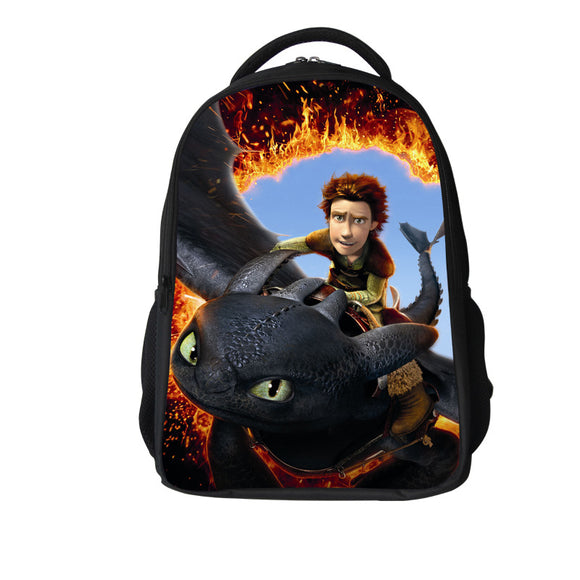 16-inch Boys Bags Kids Backpack How to Train Your Dragon Bag Pupil Book Bag Age 7-13 Children School Bags For Teenagers - Texas Country Gifts