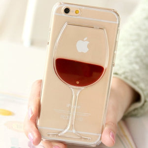 Liquid Moving Red Wine iPhone Cases - Texas Country Gifts