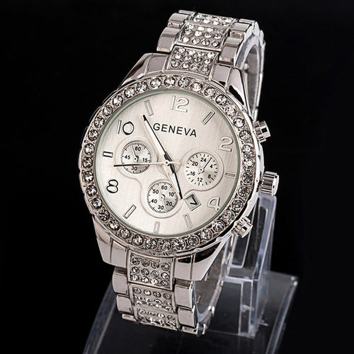 Women's Geneva Quartz Rhinestone Watch - Texas Country Gifts