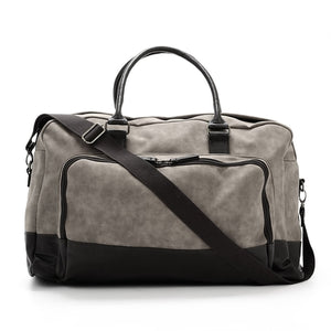 Marcel Two Tone Brushed Leather Duffle Bag - Texas Country Gifts