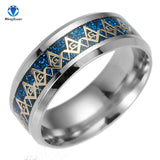Trendy Stainless Steel Unique Colored Fashion - Wedding Style Ring - Texas Country Gifts
