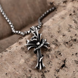 Stainless Steel Spiral Cross Necklace - Texas Country Gifts