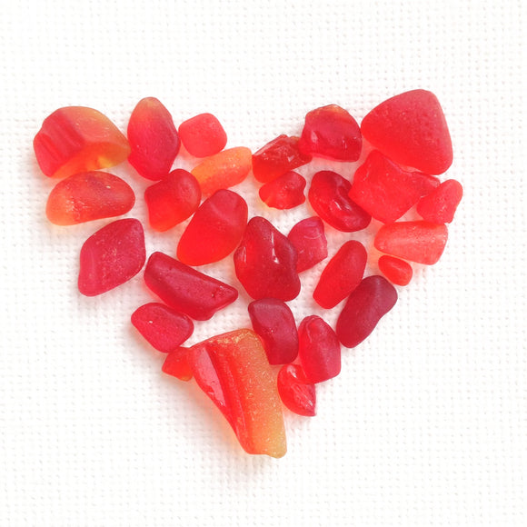 Romantic Hearts & Valentine's Day Sea Glass Jewellery