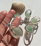 Sea Glass Marble Locket - Codd
