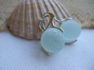 sea glass marble earrings
