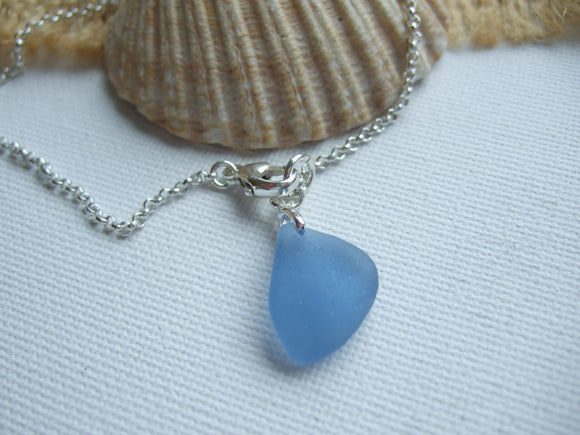 light blue scottish sea glass bracelet