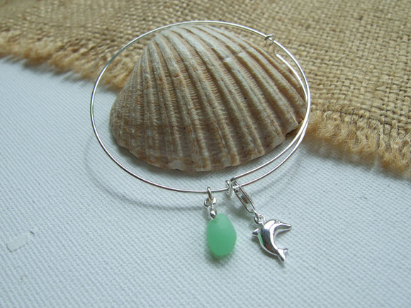 uv sea glass bangle