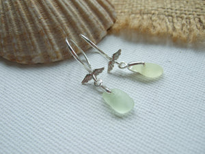 uv sea glass angel wing earrings