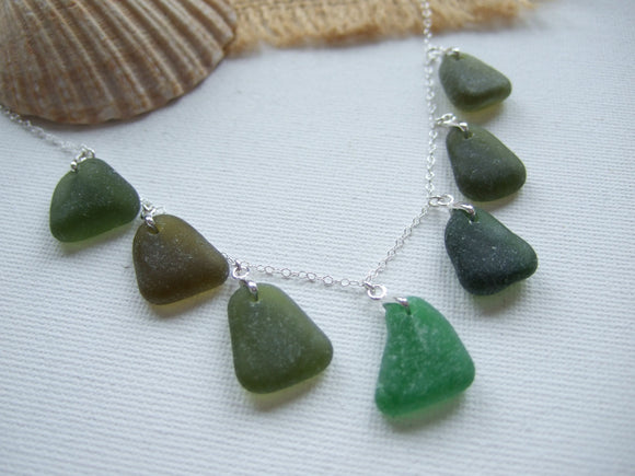 green sea glass necklace 18