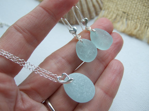 seaham sea glass jewelry set
