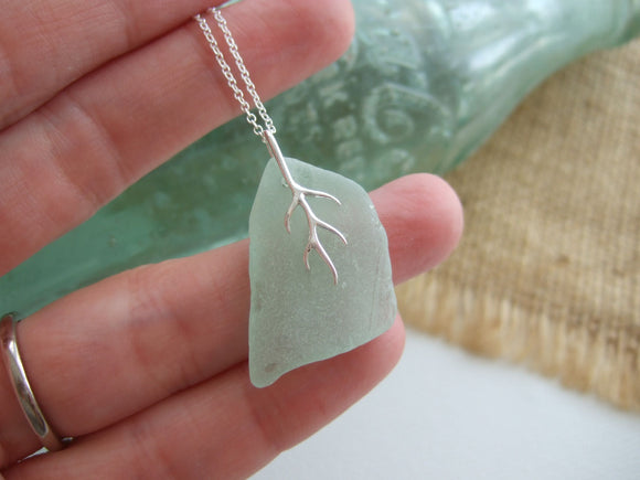 petite coca cola sea glass necklace from south pacific