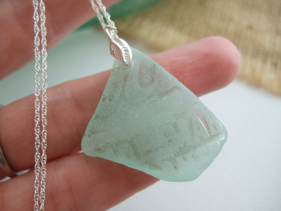 sea glass necklace with coca cola vanuatu glass