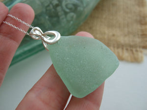 sea foam sea glass neckalce coca cola