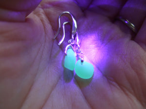 uv sea glass swirl earrings