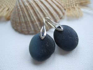 seaham sea glass earrings milky way