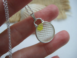 yellow ohajiki japanese flat sea glass marble