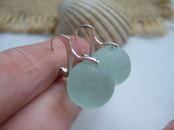 sea glass codd marble earrings