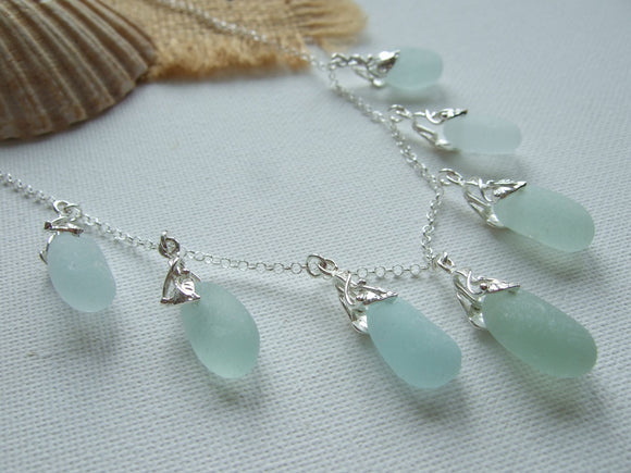 seaham sea glass art deco design necklace