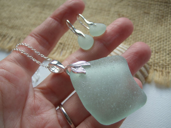 sea glass jewellery set mermaid
