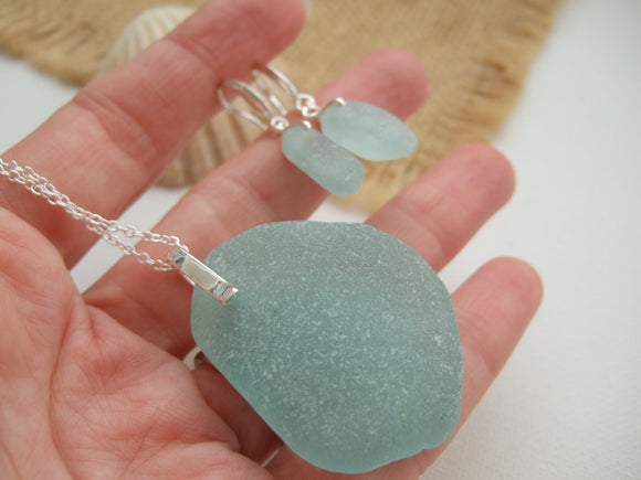 sea foam sea glass jewellery set