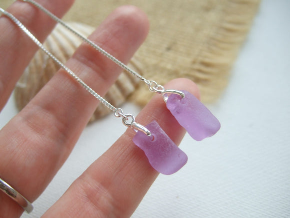 sea glass alexandrite neodymium color change earrings threaders