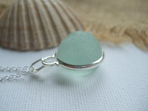 half moon beach glass marble pendant