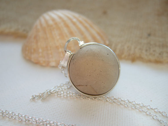 clay beach found marble necklace