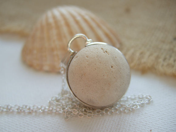 Beach Found Clay Marble, Victorian Sea Marble