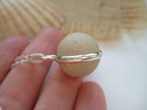 small clay beach marble necklace