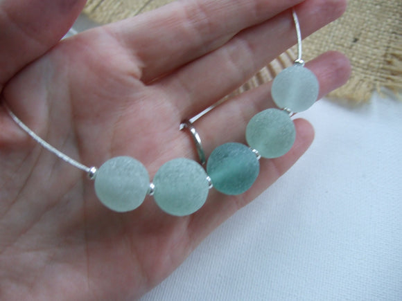 sea glass marble choker necklace