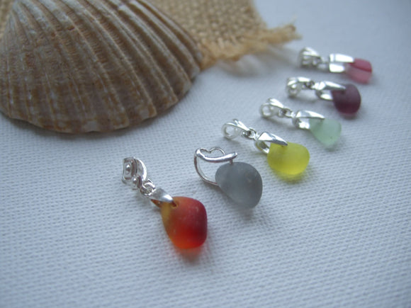 Clavicle Necklace - Dainty Seaham Sea Glass Pendant On Sterling Silver 2