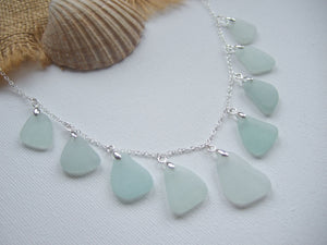 scottish sea glass necklace sea foam