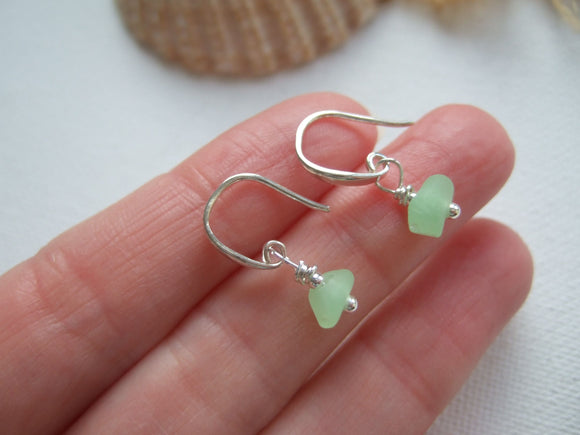 uv sea glass earrings