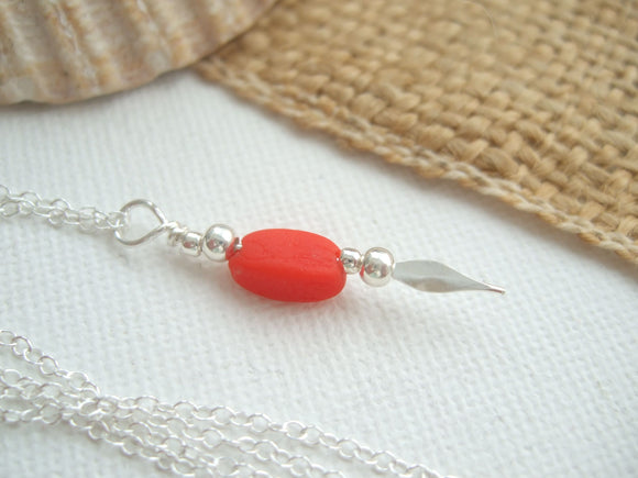 red sea glass bead necklace scottish