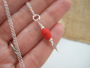 red beach bead necklace