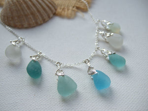 ocean inspired sea glass necklace