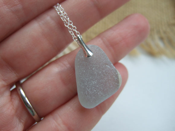 tv screen sea glass pendant