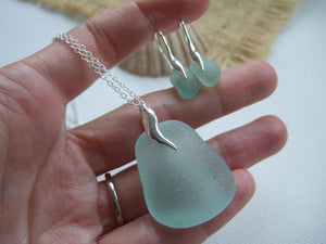 sea foam jewellery set wave design