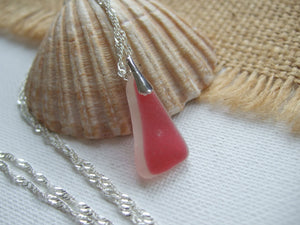 pink sea glass necklace from scotland