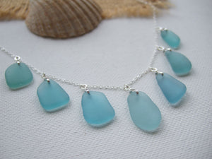 japanese sea glass necklace